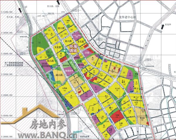 中海锦城在法定图则上的位置图