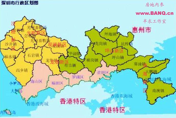 位于大鹏半岛的滨海新区,包括南澳,大鹏,葵涌三镇,陆域面积近300平方