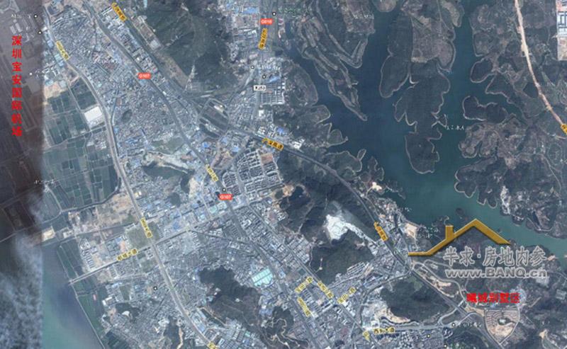 曦城与机场关系卫星地图