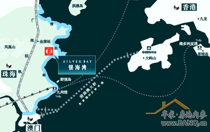 珠海唐家到拱北的地图