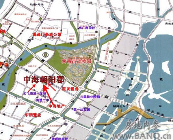 中海朝阳郡项目区位图