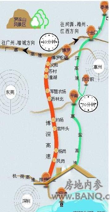 博深高速行車路線圖圖片