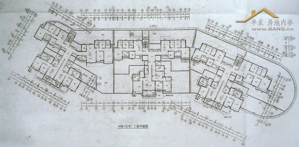 1#楼(住宅)二层平面图