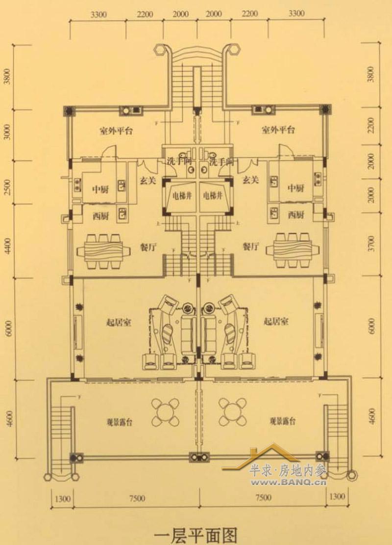 2米酒店大堂式餐厅,中西厨设计