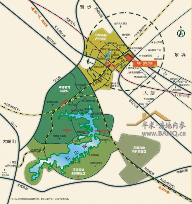 东莞植物园地图