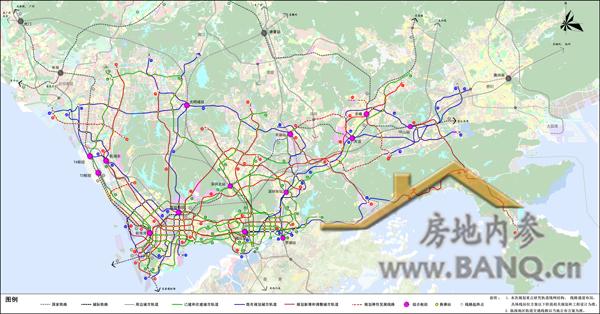 深圳市轨道交通线网规划 2016 2030 全图首发